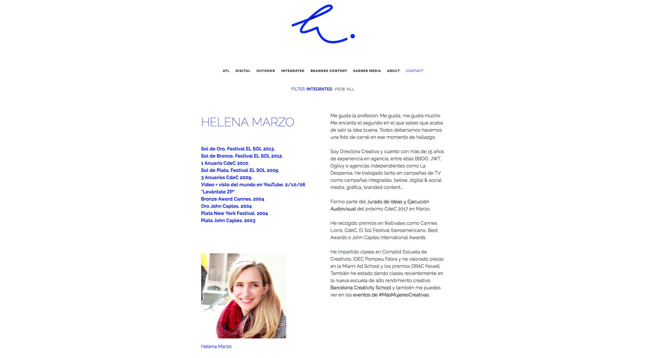 Helena Marzo interior