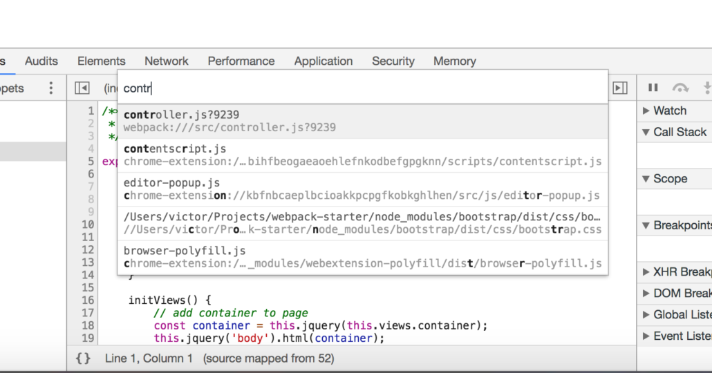 ebavs webpack debugging