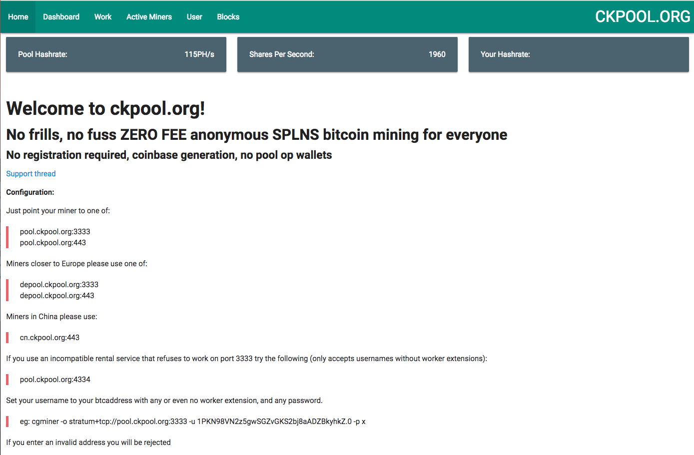 Ckpool mining bitcoin