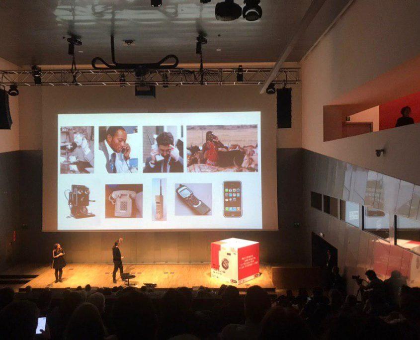 Gerfried Stocker speaking about tech evolution